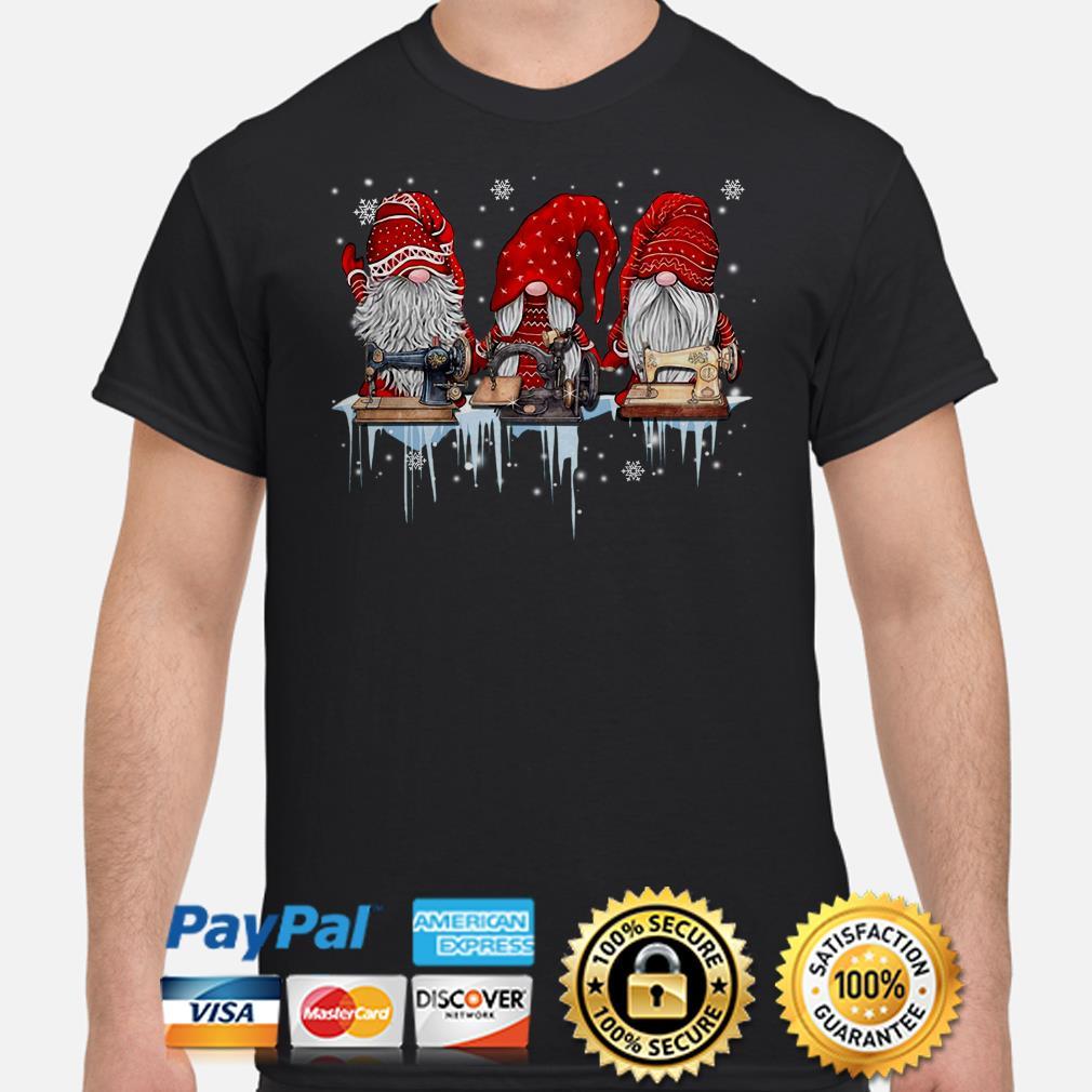 Winter Gnomes sewing Christmas t-shirt
