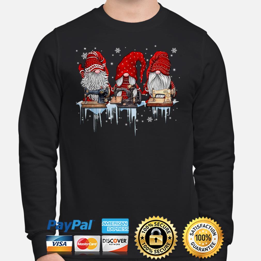 Winter Gnomes sewing Christmas sweater