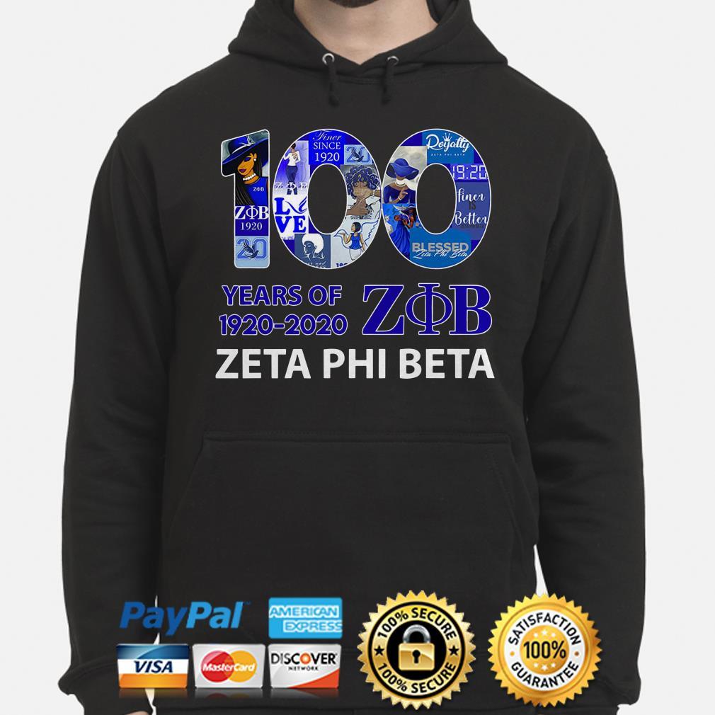 100 years of ZOB Zeta Phi Beta Hoodie