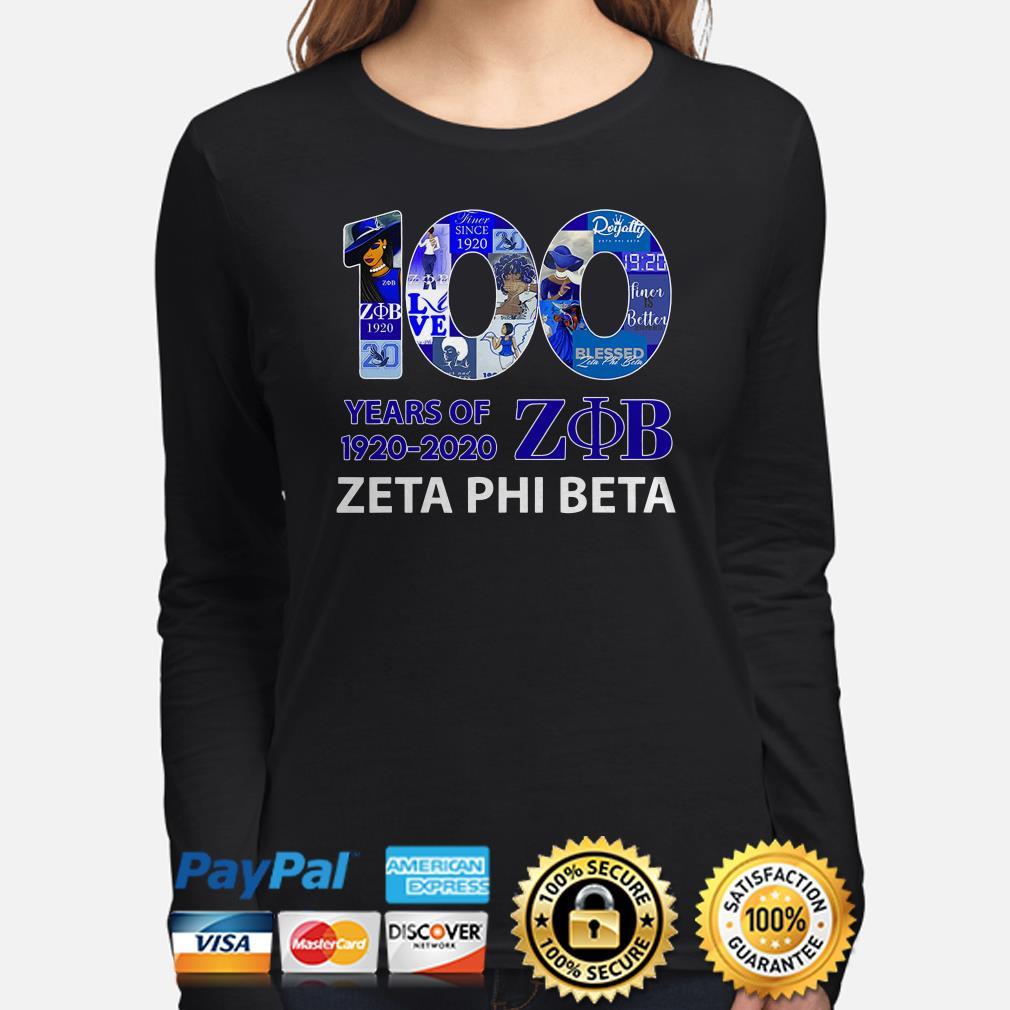 100 years of ZOB Zeta Phi Beta Long sleeve