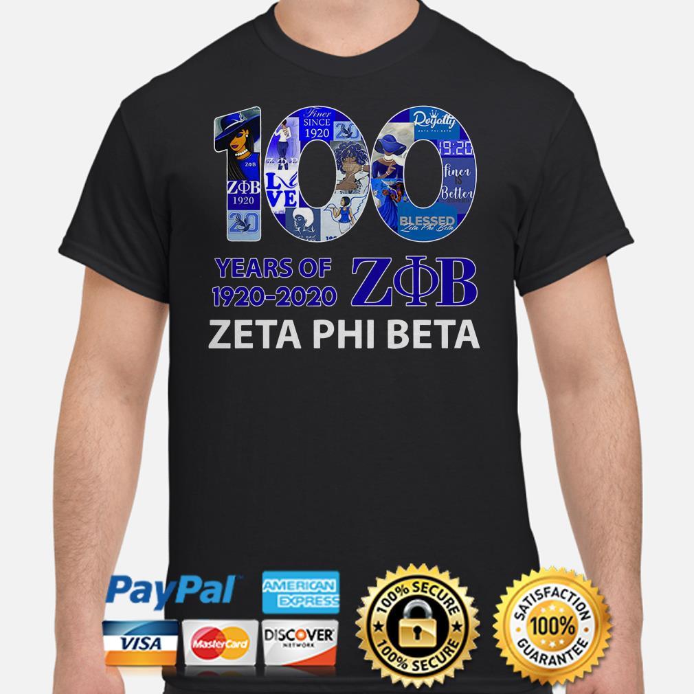100 years of ZOB Zeta Phi Beta shirt