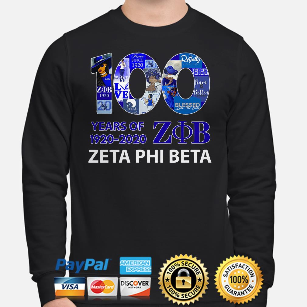 100 years of ZOB Zeta Phi Beta Sweater