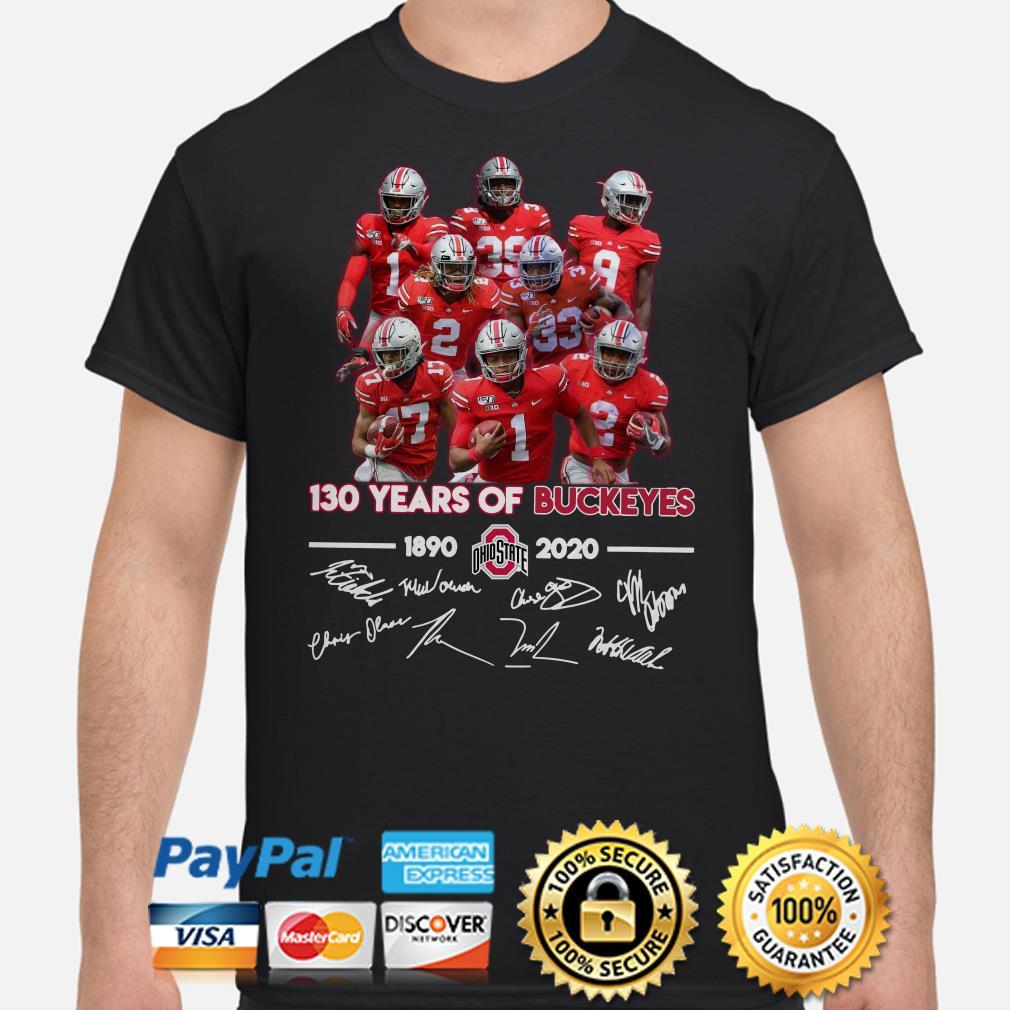130 years of Ohio States Buckeyes signature shirt