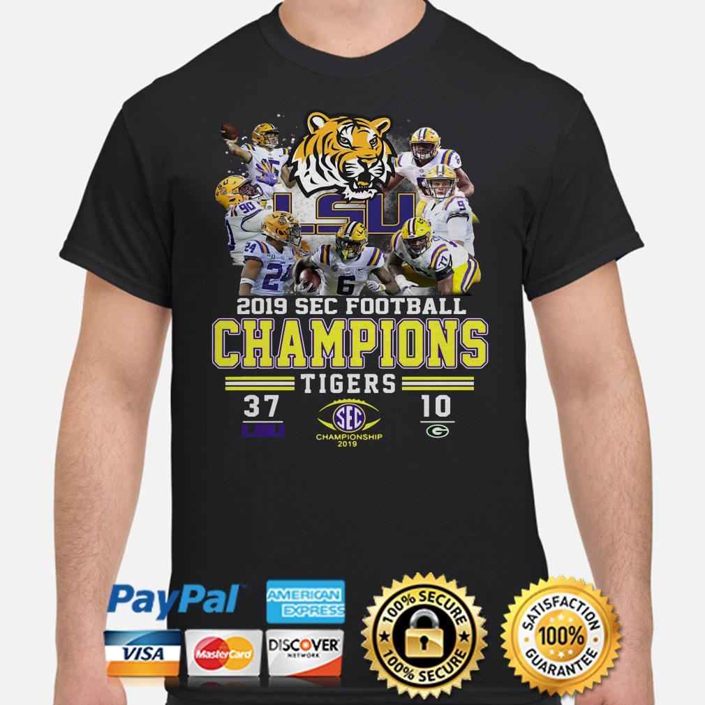 2019 SEC Football Champions LSU Tigers 47 Packers 10 shirt