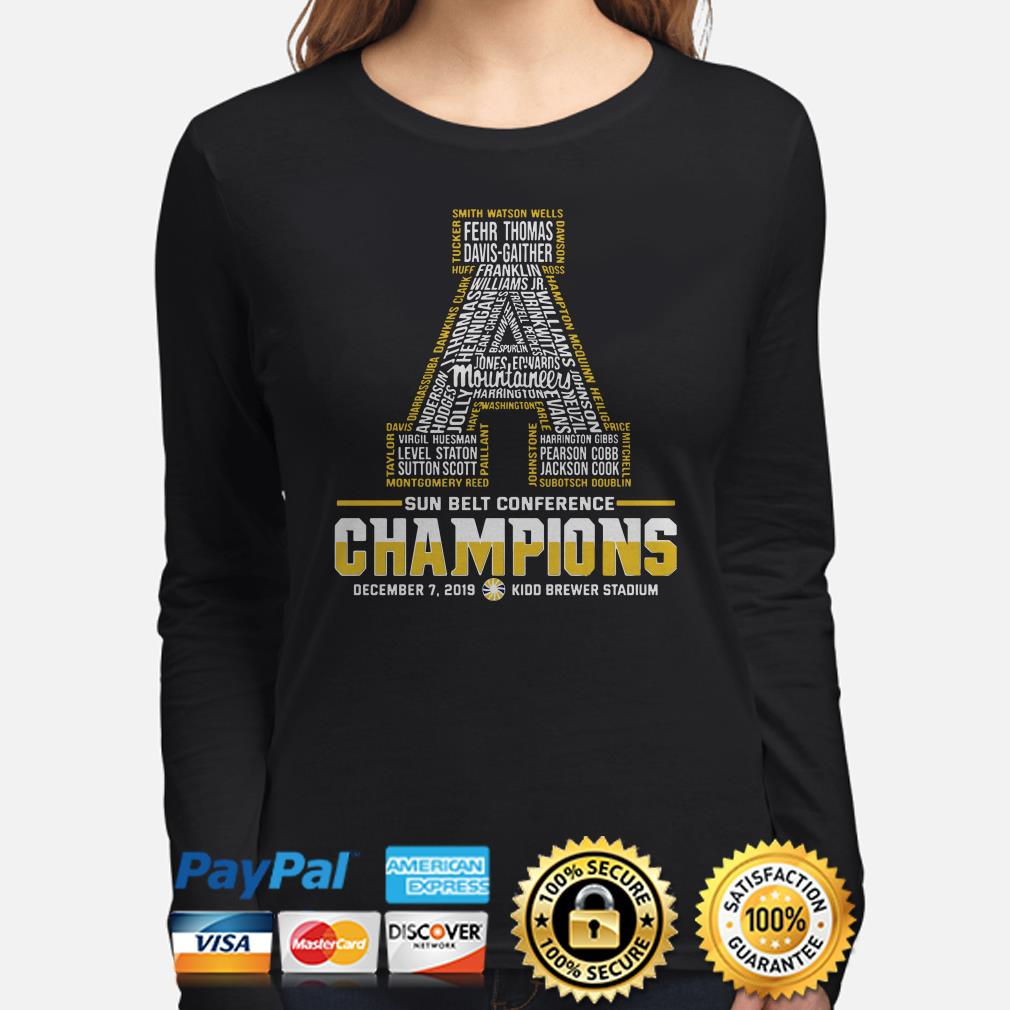 Appalachian State Mountaineers Sun Belt Conference 2019 Champions Long sleeve