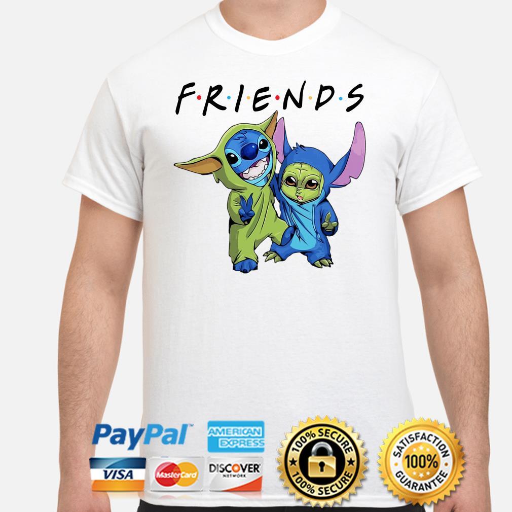 Baby Yoda and Stitch Friends shirt
