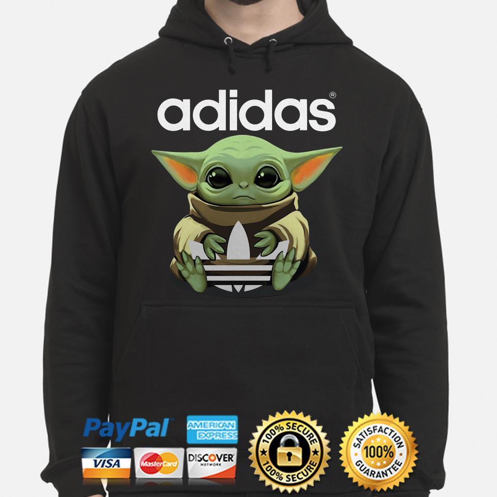 Baby Yoda hug Adidas Hoodie
