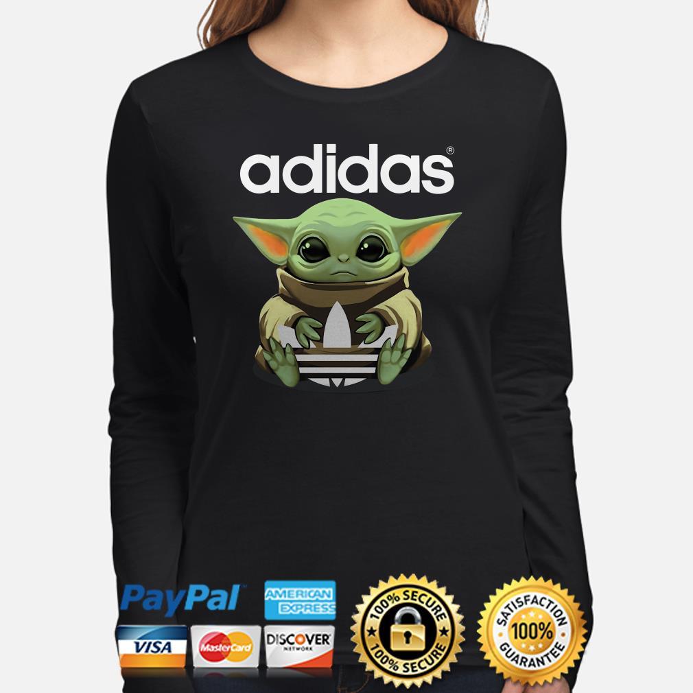 Baby Yoda hug Adidas Long sleeve