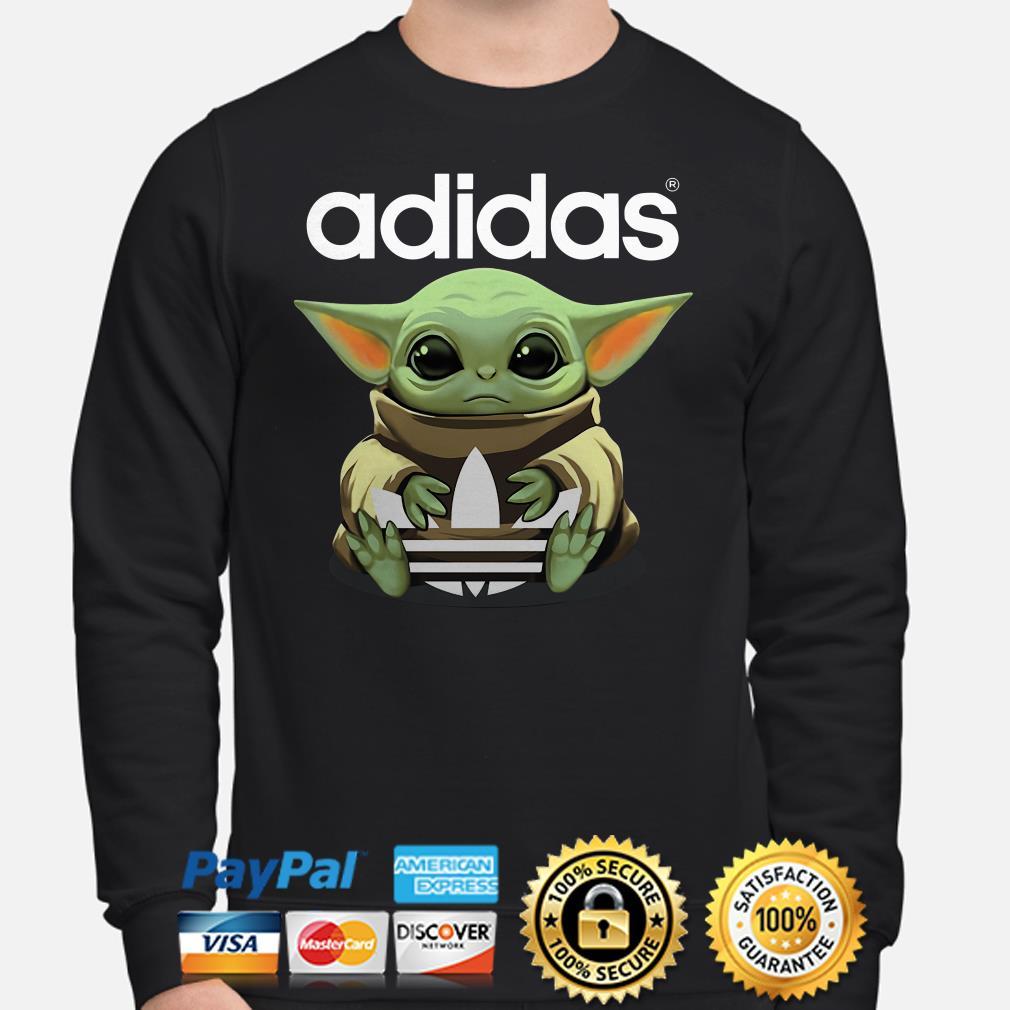 Baby Yoda hug Adidas Sweater