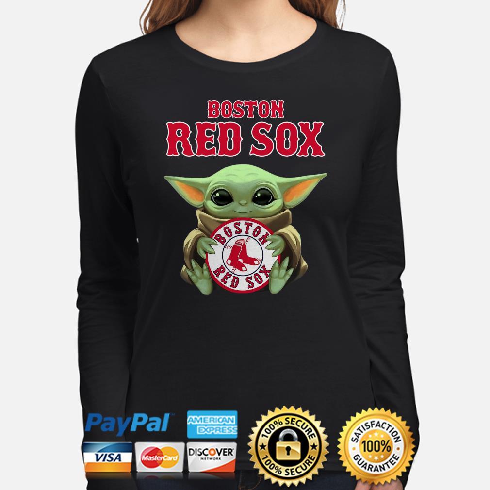 Baby Yoda hug Boston Red Sox Long sleeve