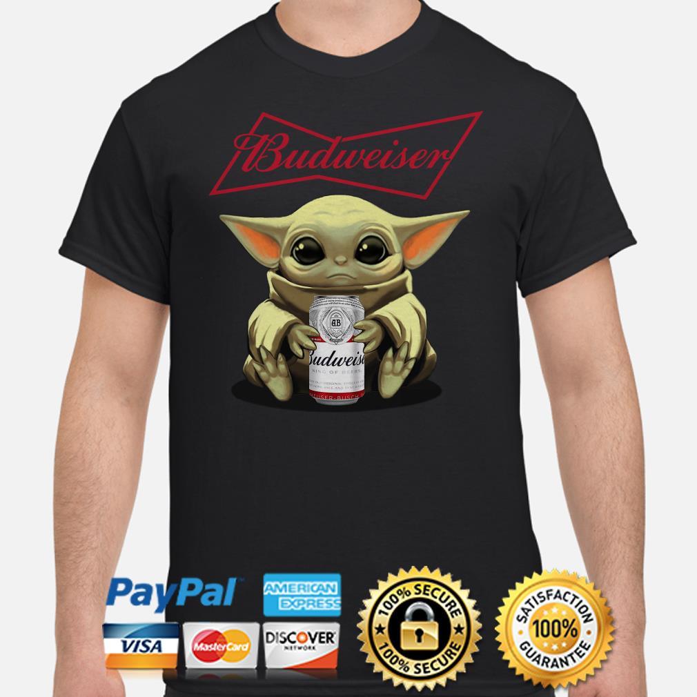 Baby yoda hug Budweiser shirt
