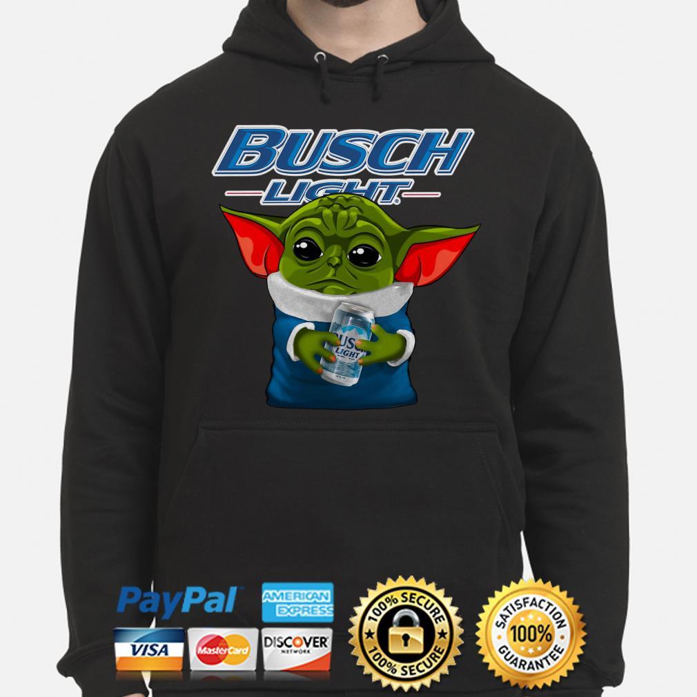 Baby Yoda hug Busch Light Hoodie