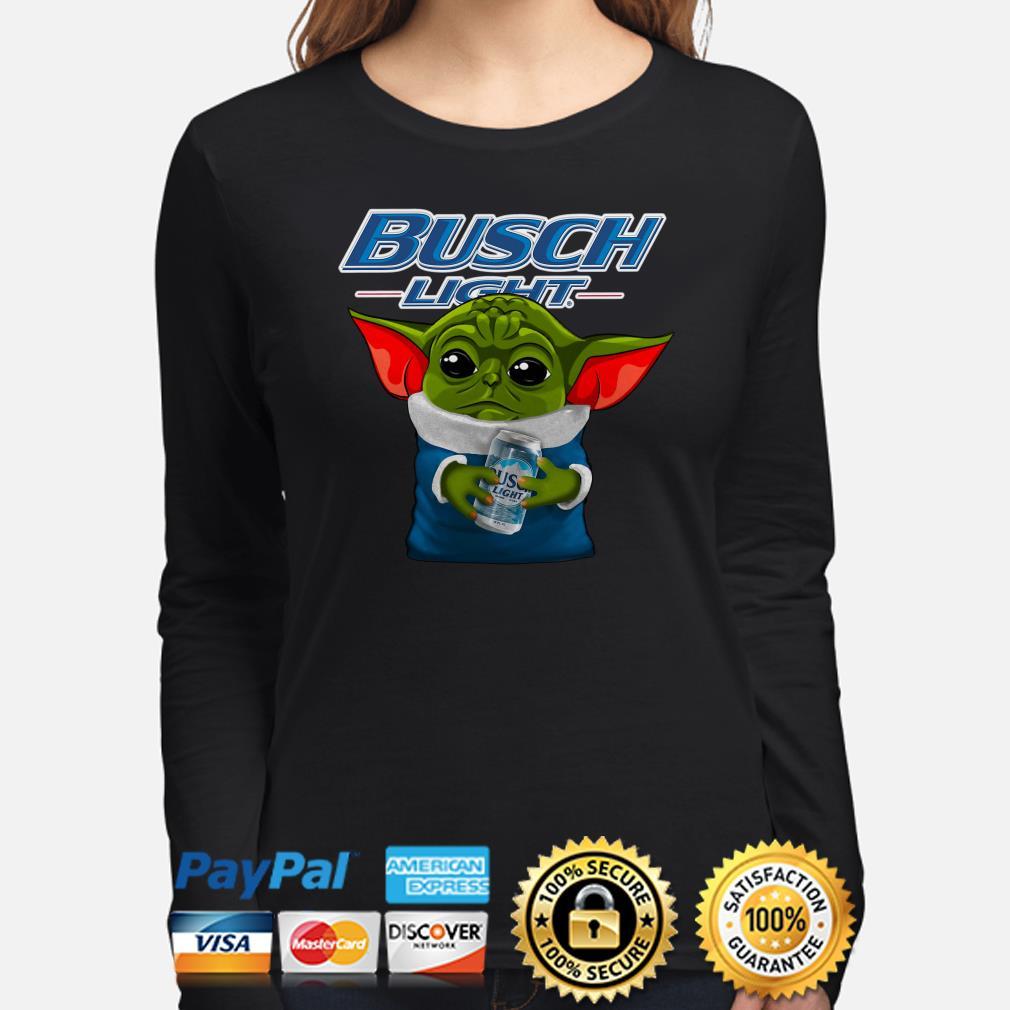 Baby Yoda hug Busch Light Long sleeve