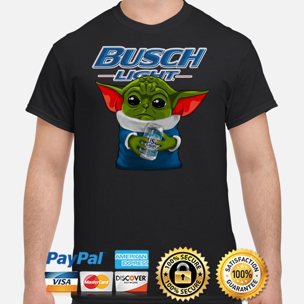 Baby Yoda hug Busch Light shirt