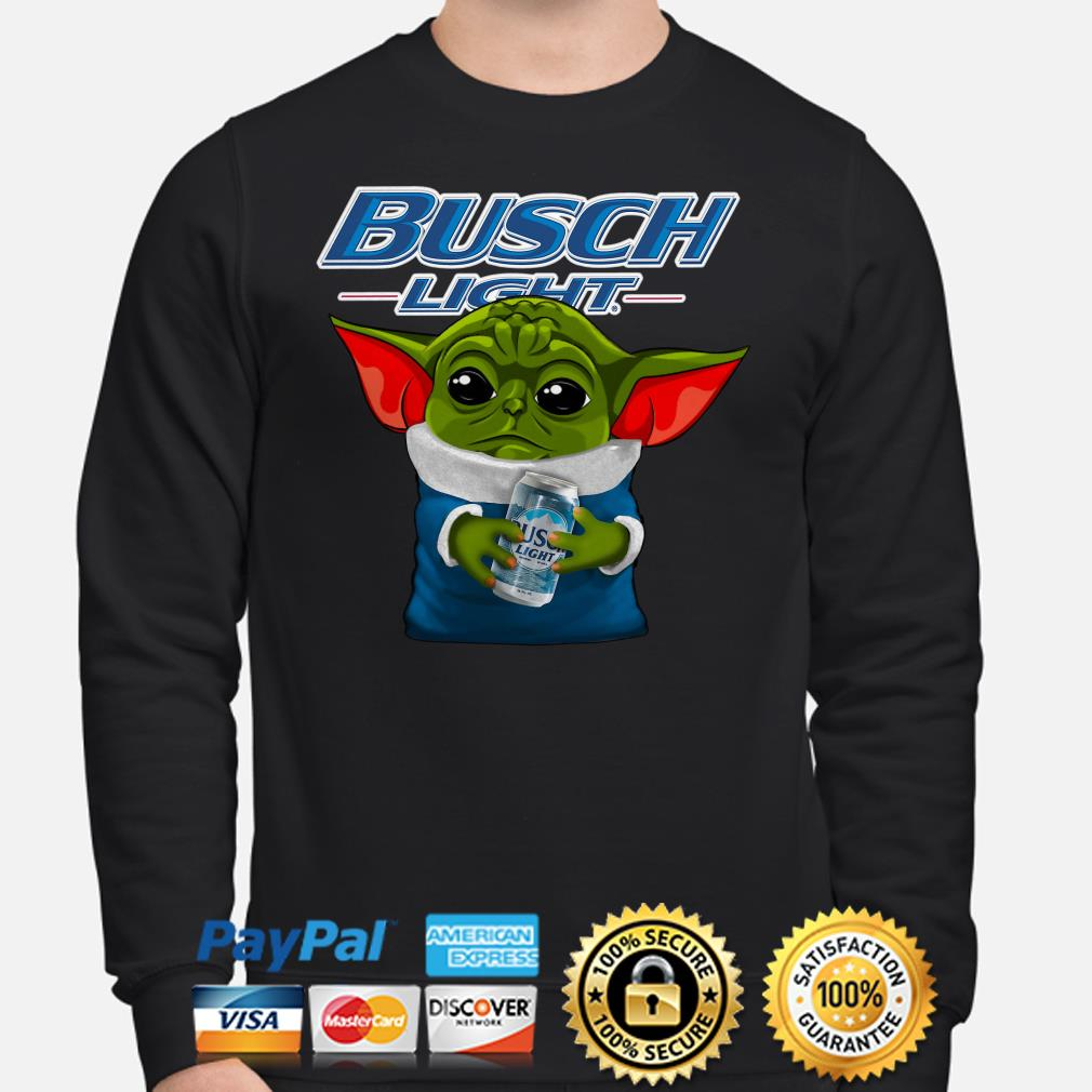 Baby Yoda hug Busch Light Sweater