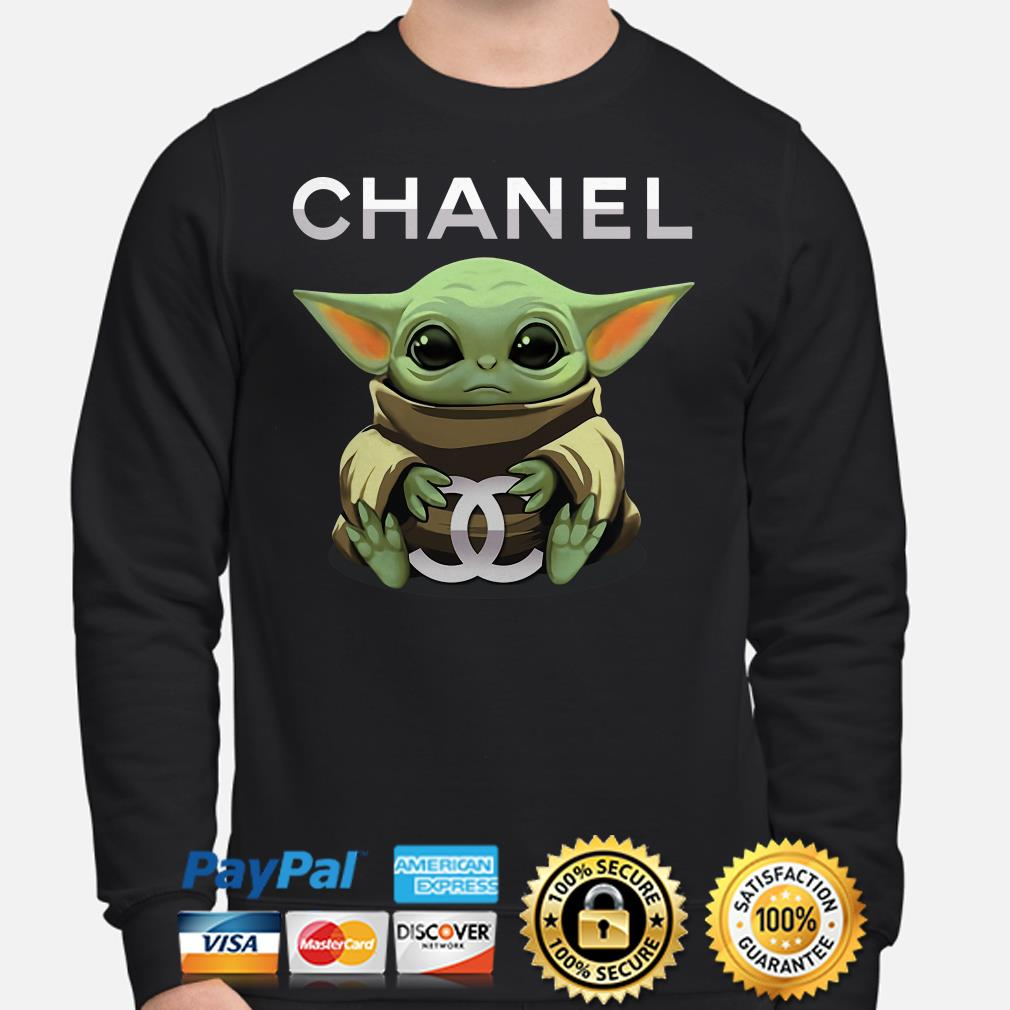 Baby Yoda hug Chanel Sweater
