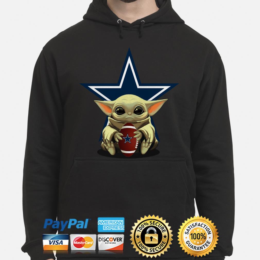 Baby Yoda hug Dallas Cowboys Hoodie