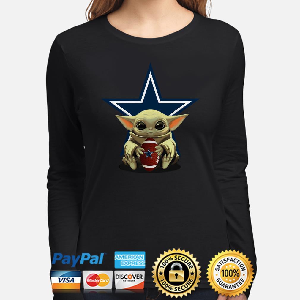 Baby Yoda hug Dallas Cowboys Long sleeve