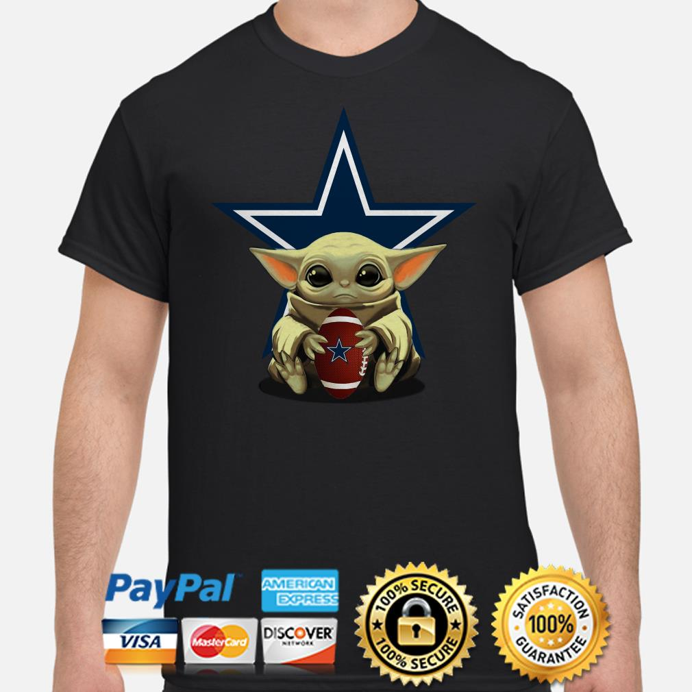 Baby Yoda hug Dallas Cowboys shirt