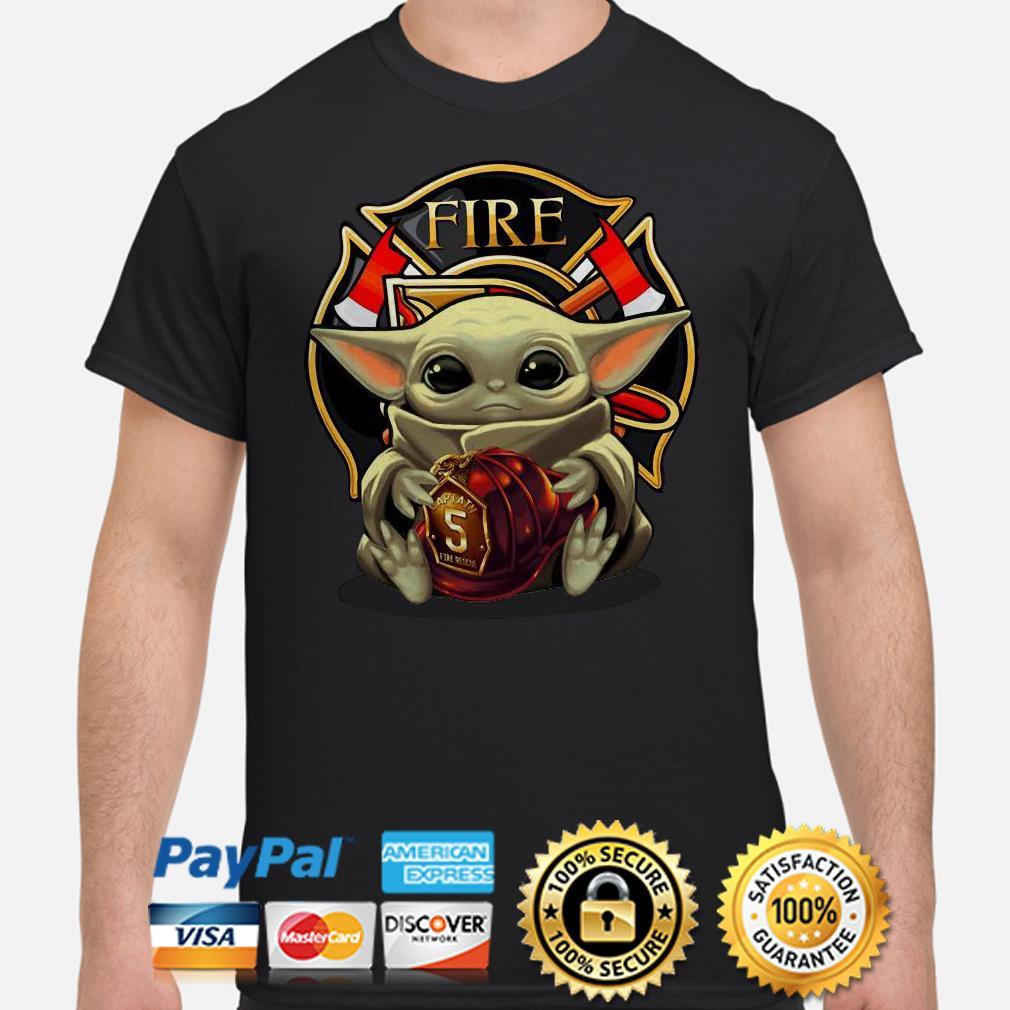 Baby Yoda Hug Flaptatn Fire Reside Shirt