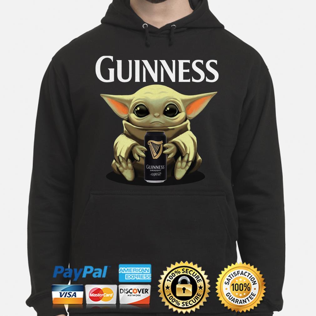 Baby Yoda hug Guinness Draught Hoodie