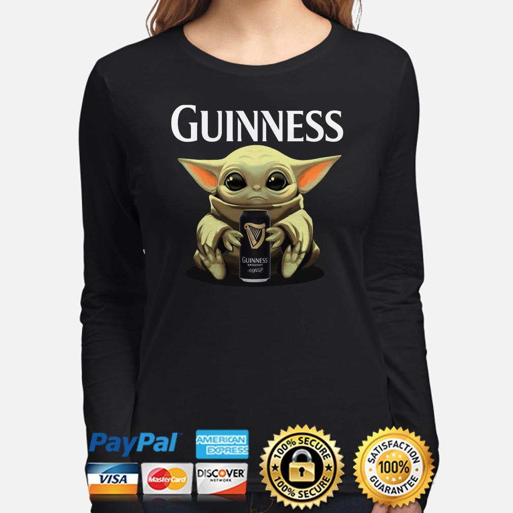 Baby Yoda hug Guinness Draught Long sleeve
