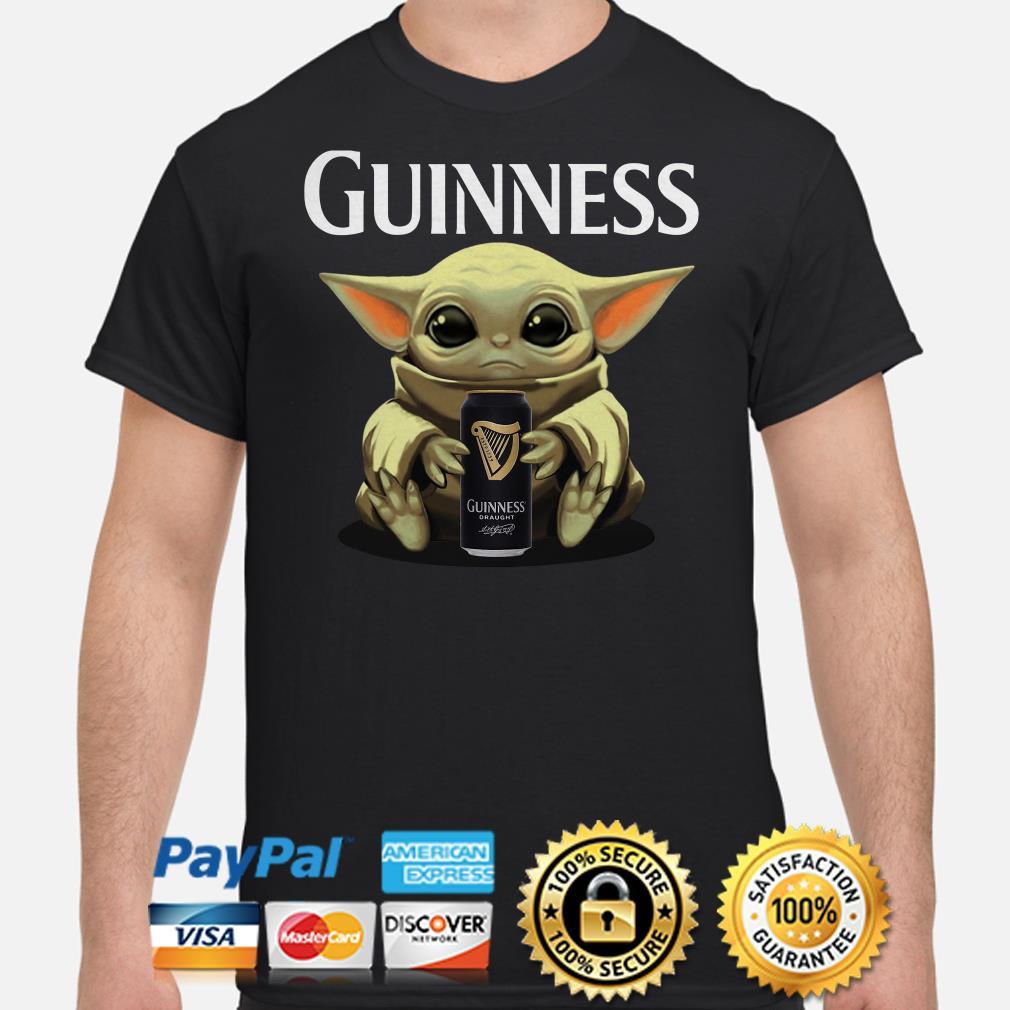 Baby Yoda hug Guinness Draught shirt