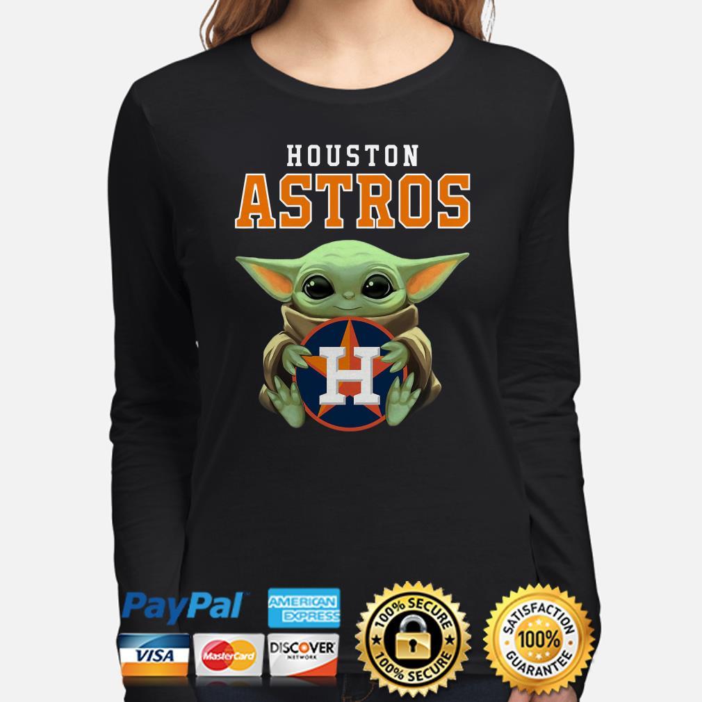 Baby Yoda hug Houston Astros Long sleeve