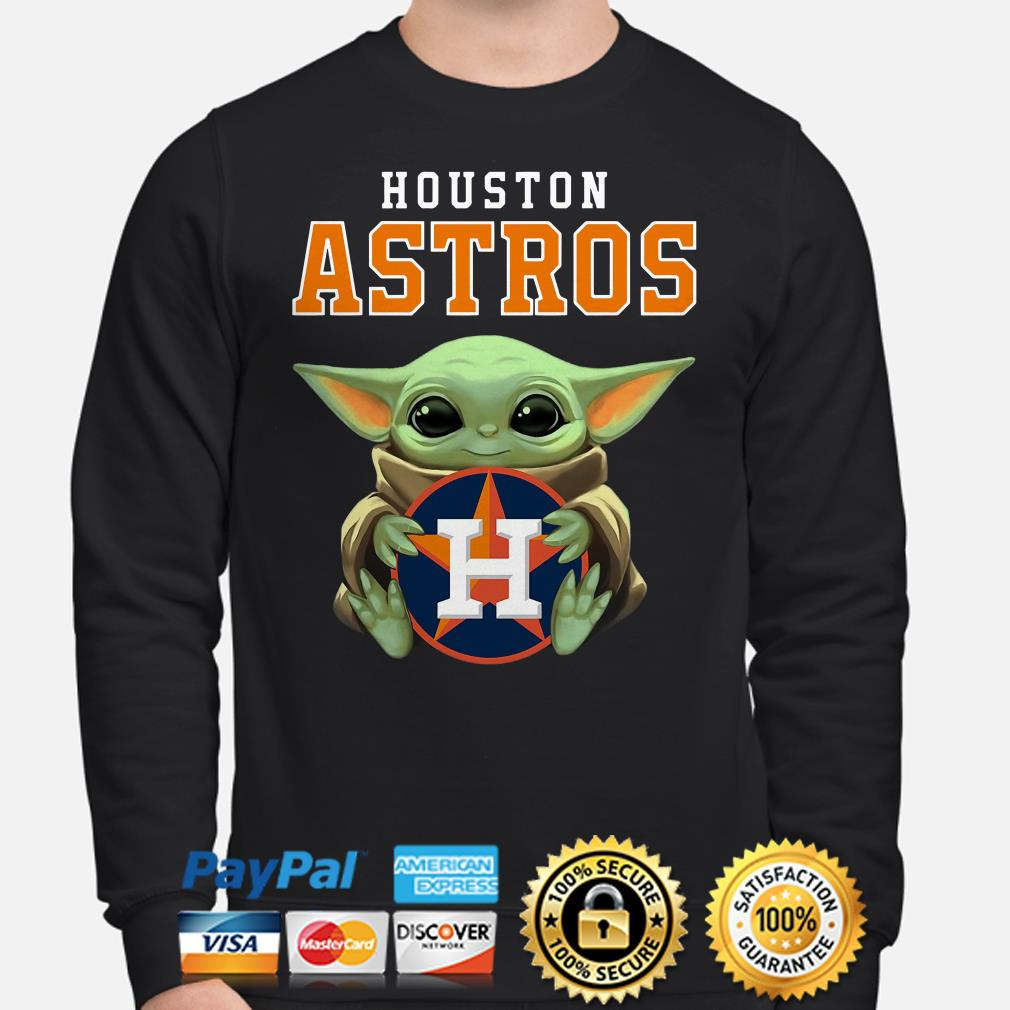 Baby Yoda hug Houston Astros Hoodie