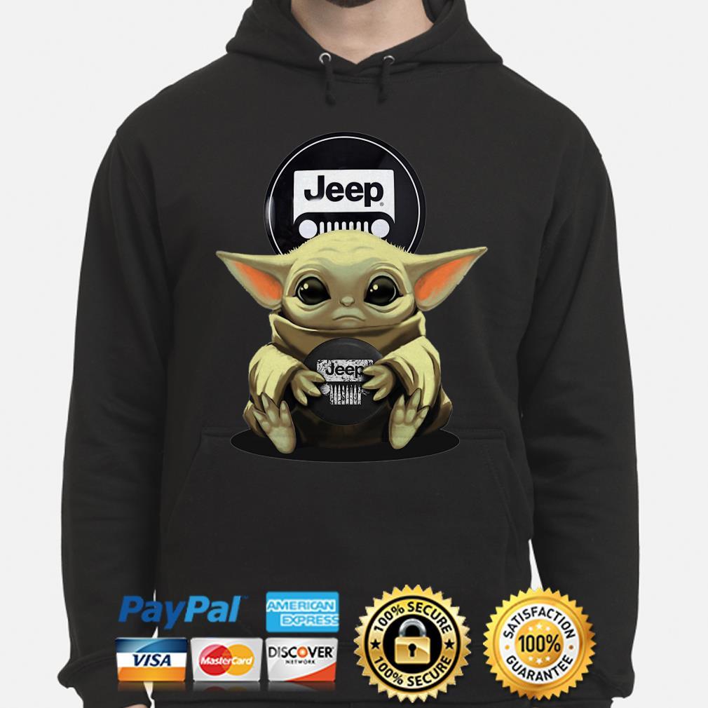 Baby Yoda hug Jeep Hoodie
