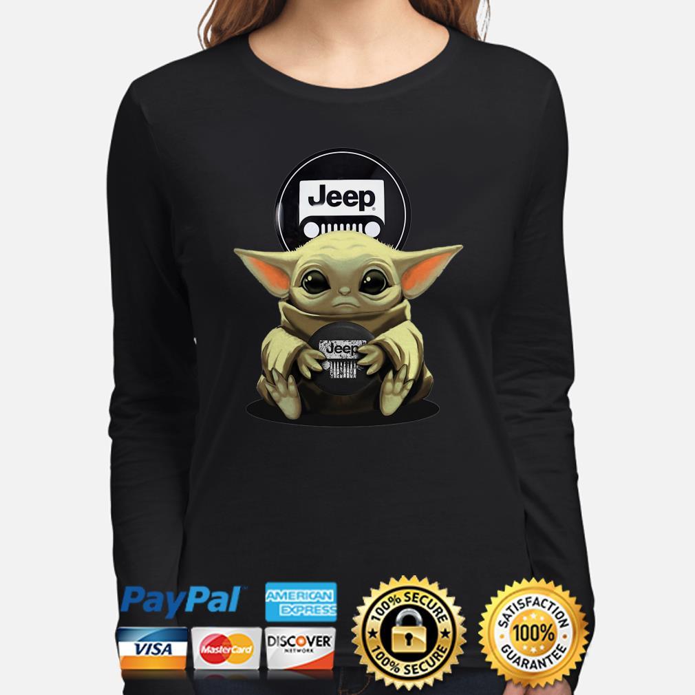Baby Yoda hug Jeep Long sleeve