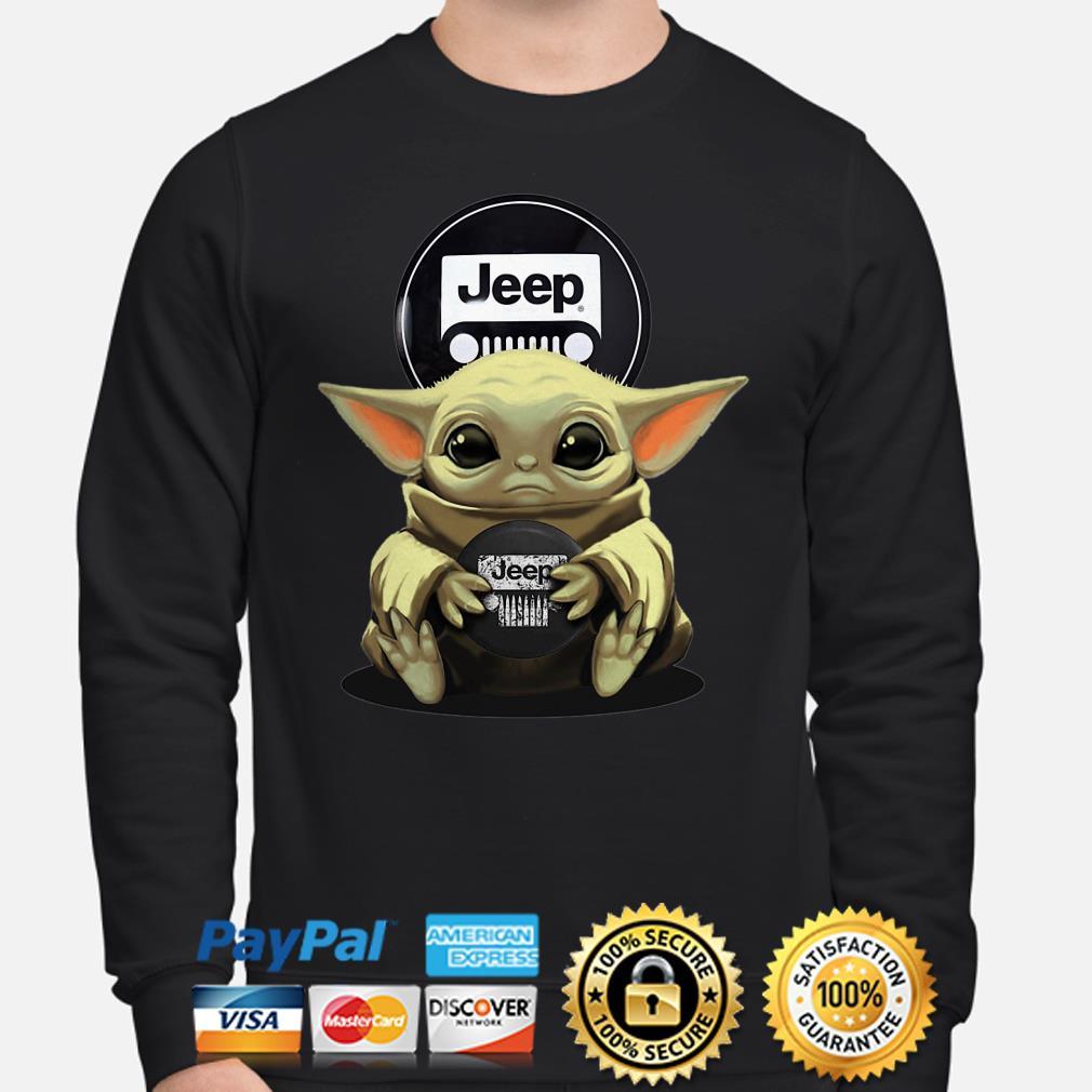 Baby Yoda hug Jeep Sweater