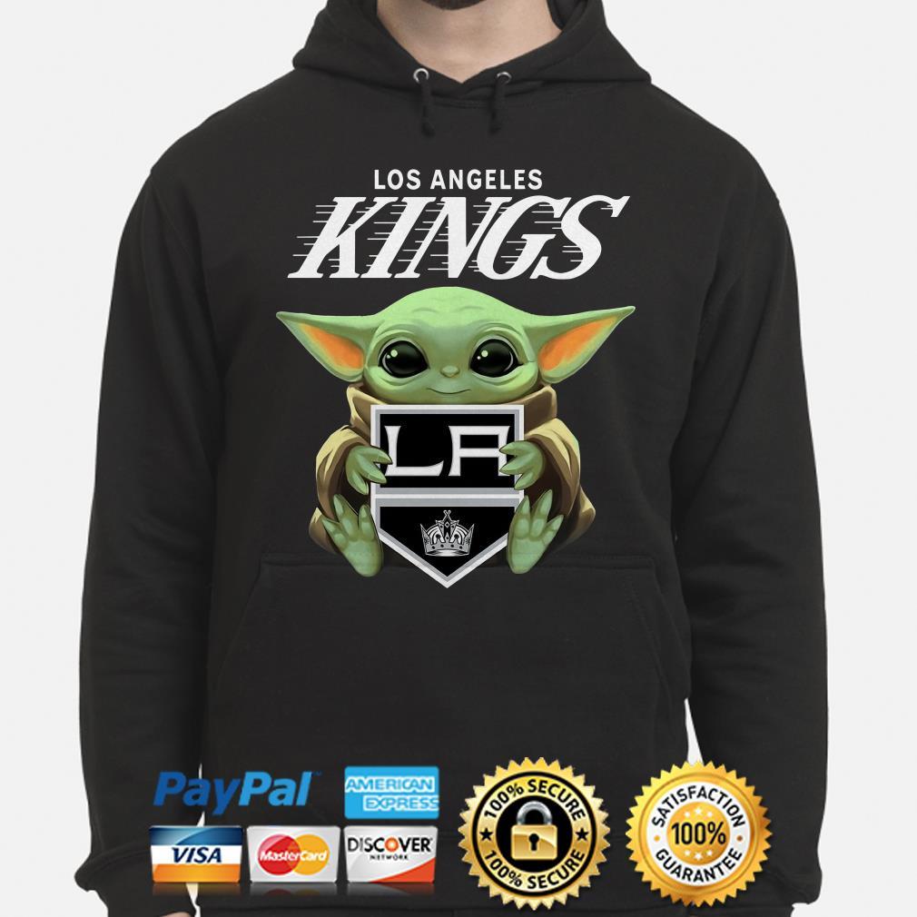 Baby Yoda Hug Los Angeles Kings Hoodie