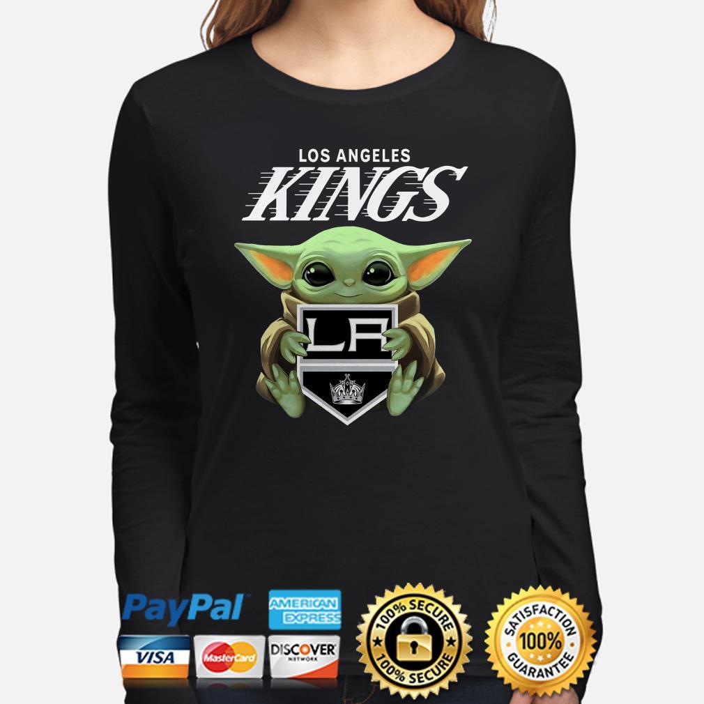 Baby Yoda Hug Los Angeles Kings Long sleeve
