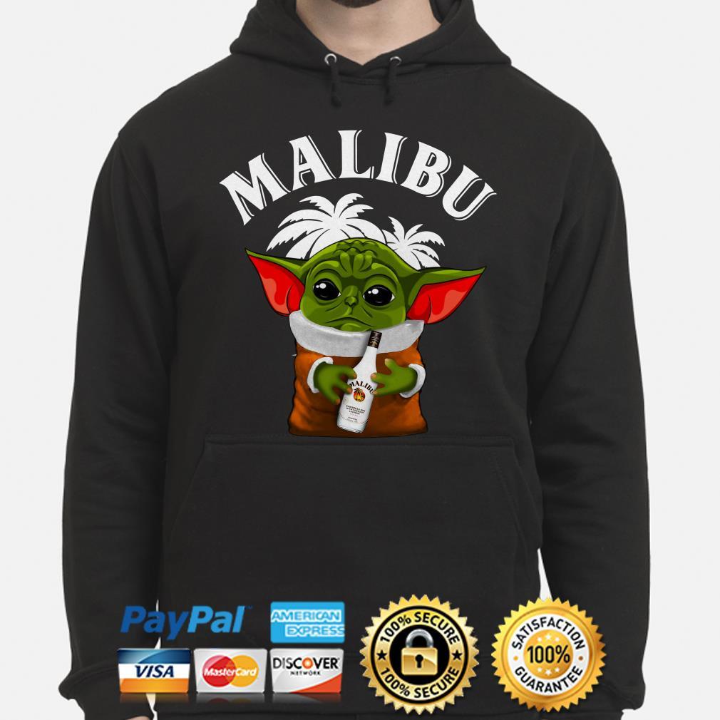 Baby Yoda hug Malibu Hoodie