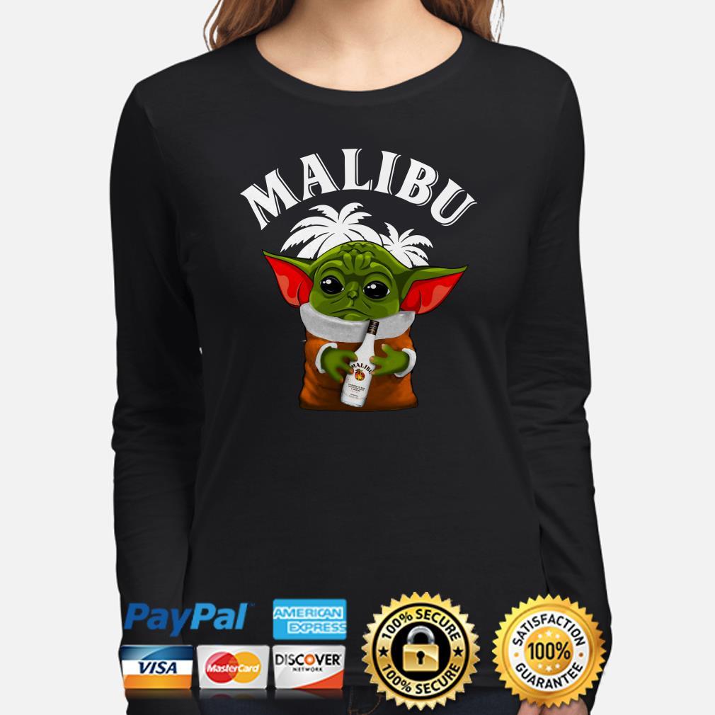 Baby Yoda hug Malibu Long sleeve