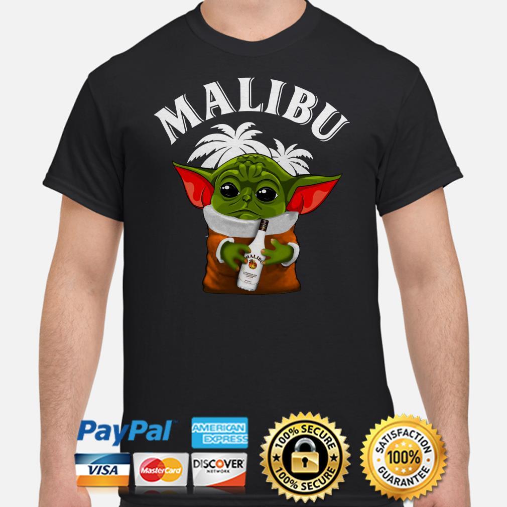 Baby Yoda hug Malibu shirt