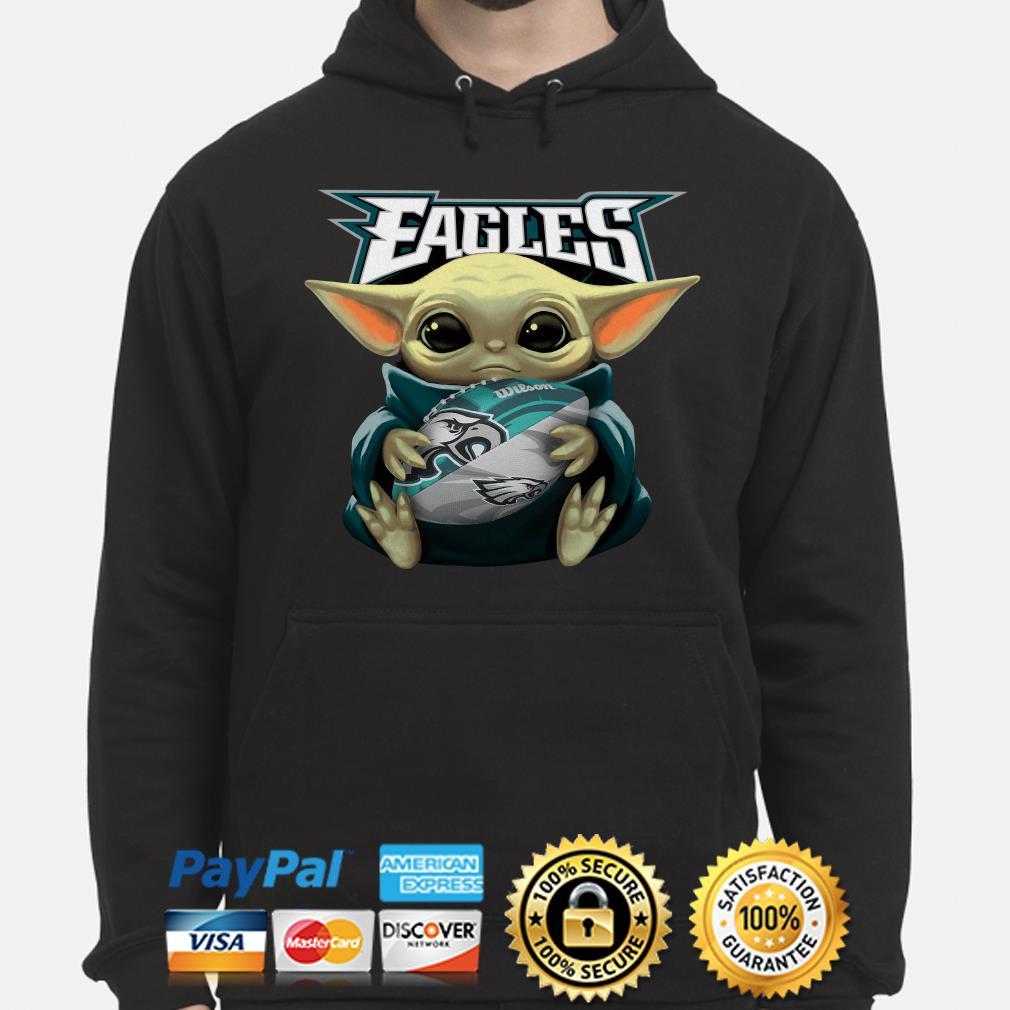 Baby Yoda Hug Philadelphia Eagles Hoodie