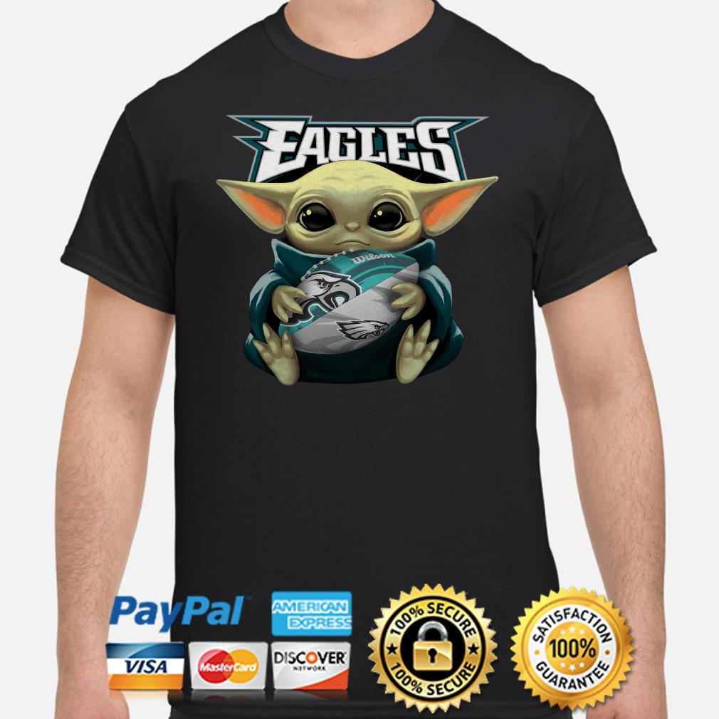 Baby Yoda Hug Philadelphia Eagles Shirt