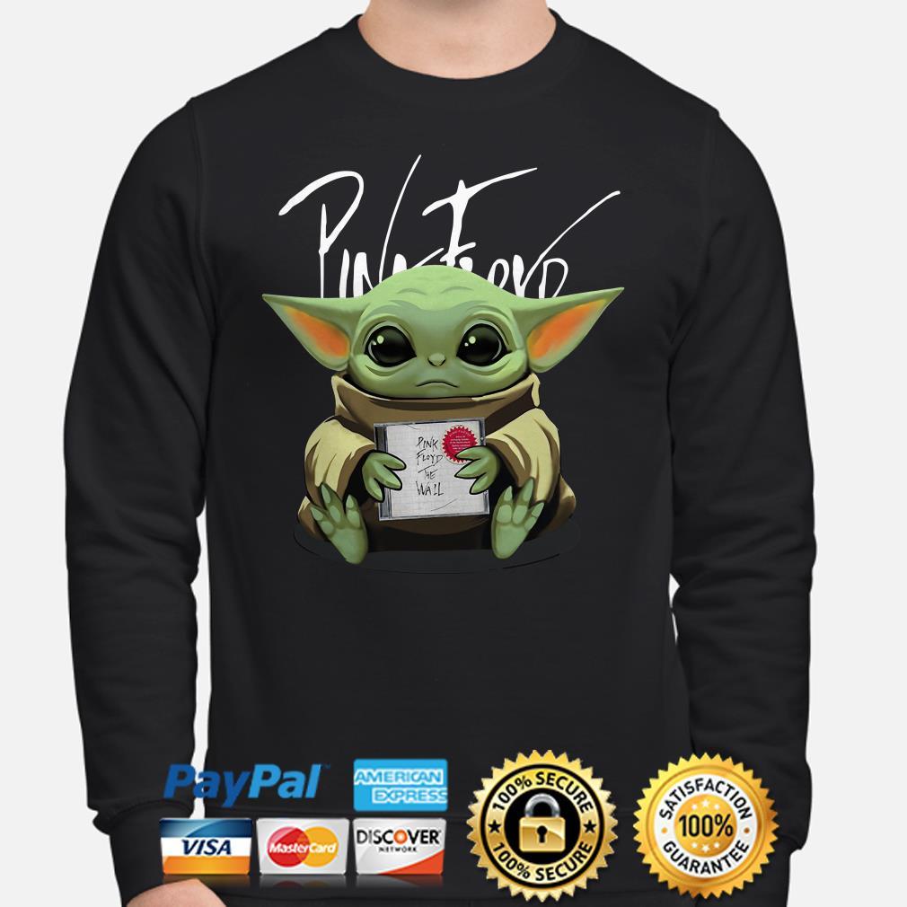 Baby Yoda hug Pink Floyd The Wall Album Sweater