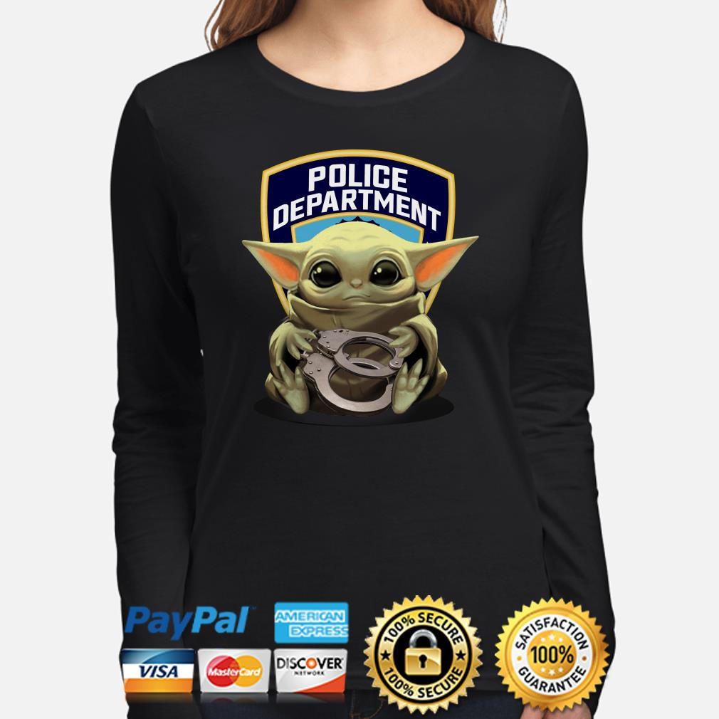 Baby Yoda hug Police Department Long sleeve