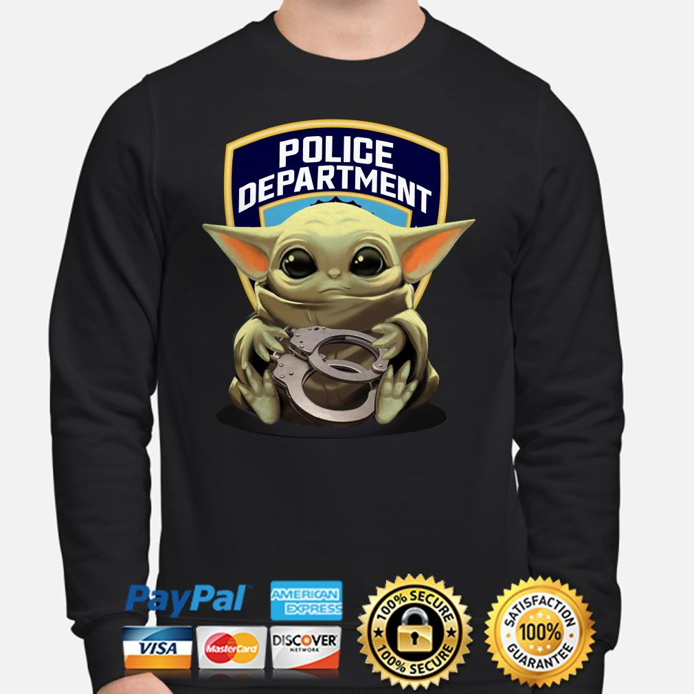 Baby Yoda hug Police Department Sweater