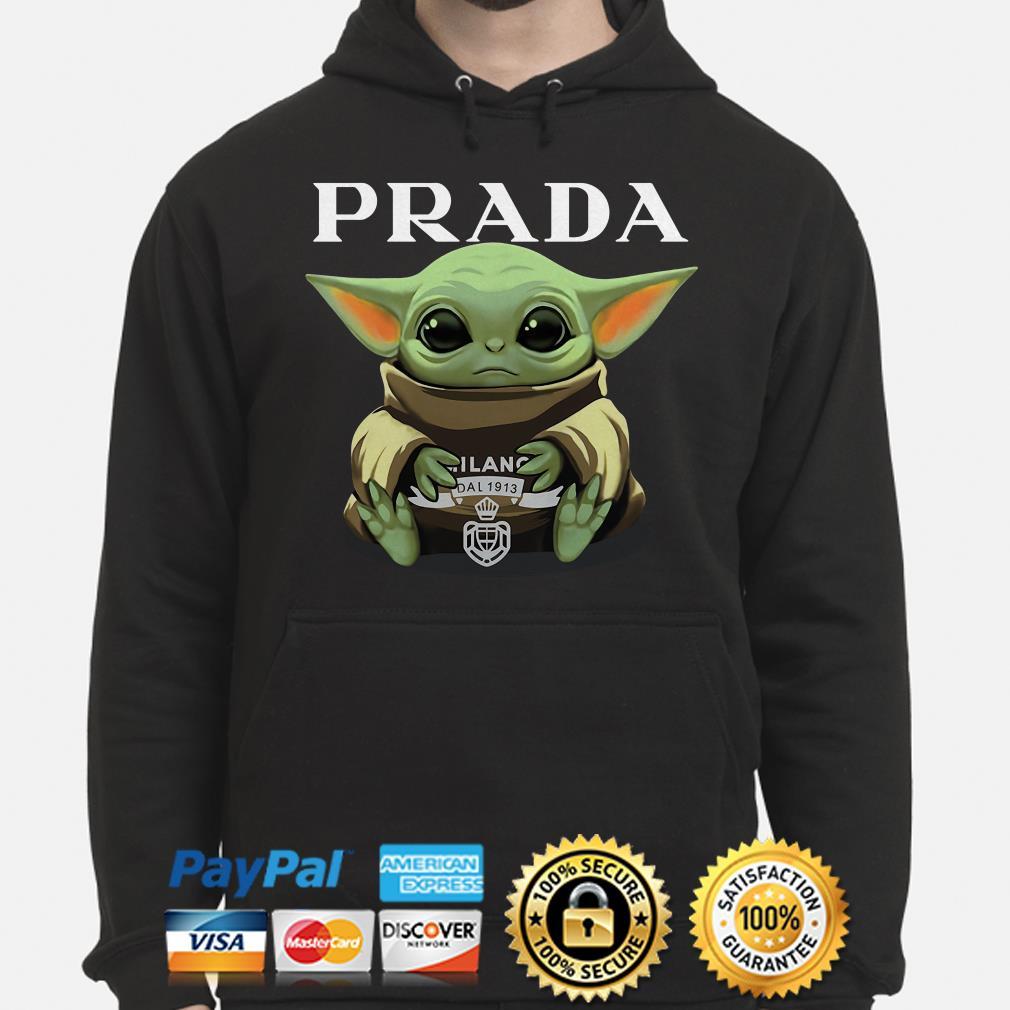 Baby Yoda hug Prada Hoodie