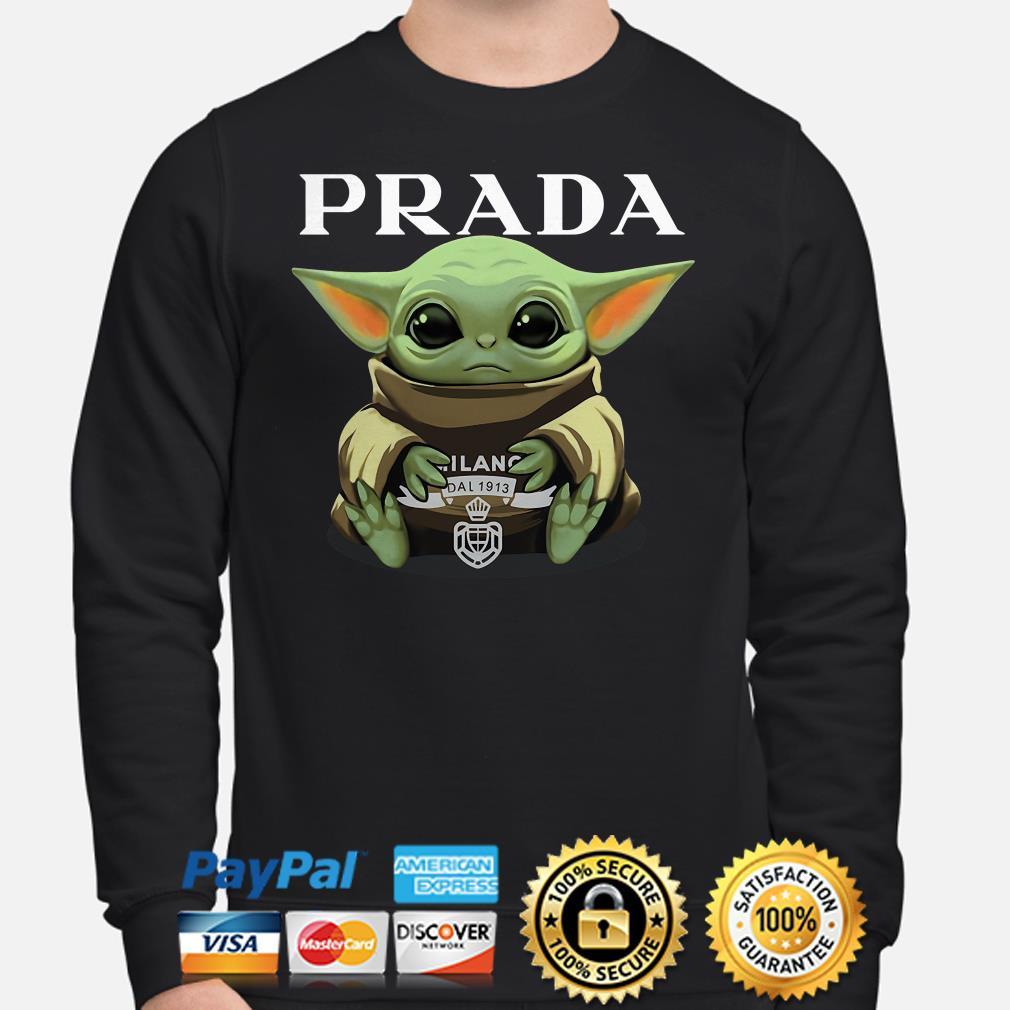 Baby Yoda hug Prada Sweater