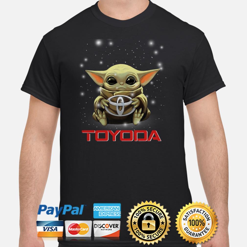 Baby Yoda hug Toyota Toyoda shirt