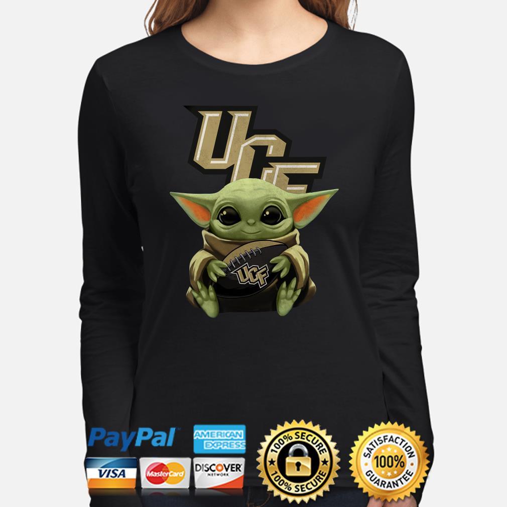 Baby Yoda Hug UCF Knights Long sleeve