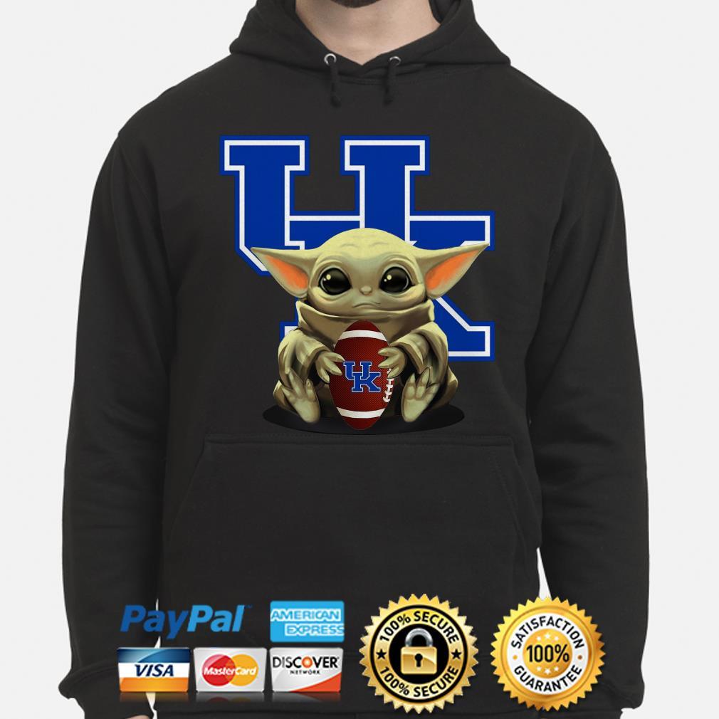 Baby Yoda hug UK University Of Kentucky Hoodie