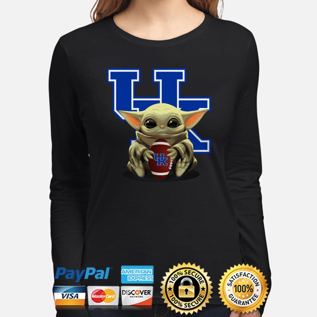Baby Yoda hug UK University Of Kentucky Long sleeve