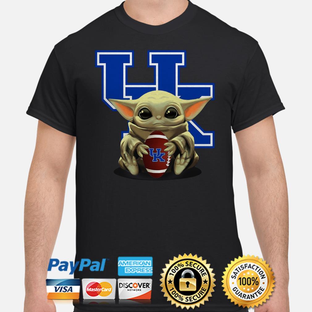 Baby Yoda hug UK University Of Kentucky shirt