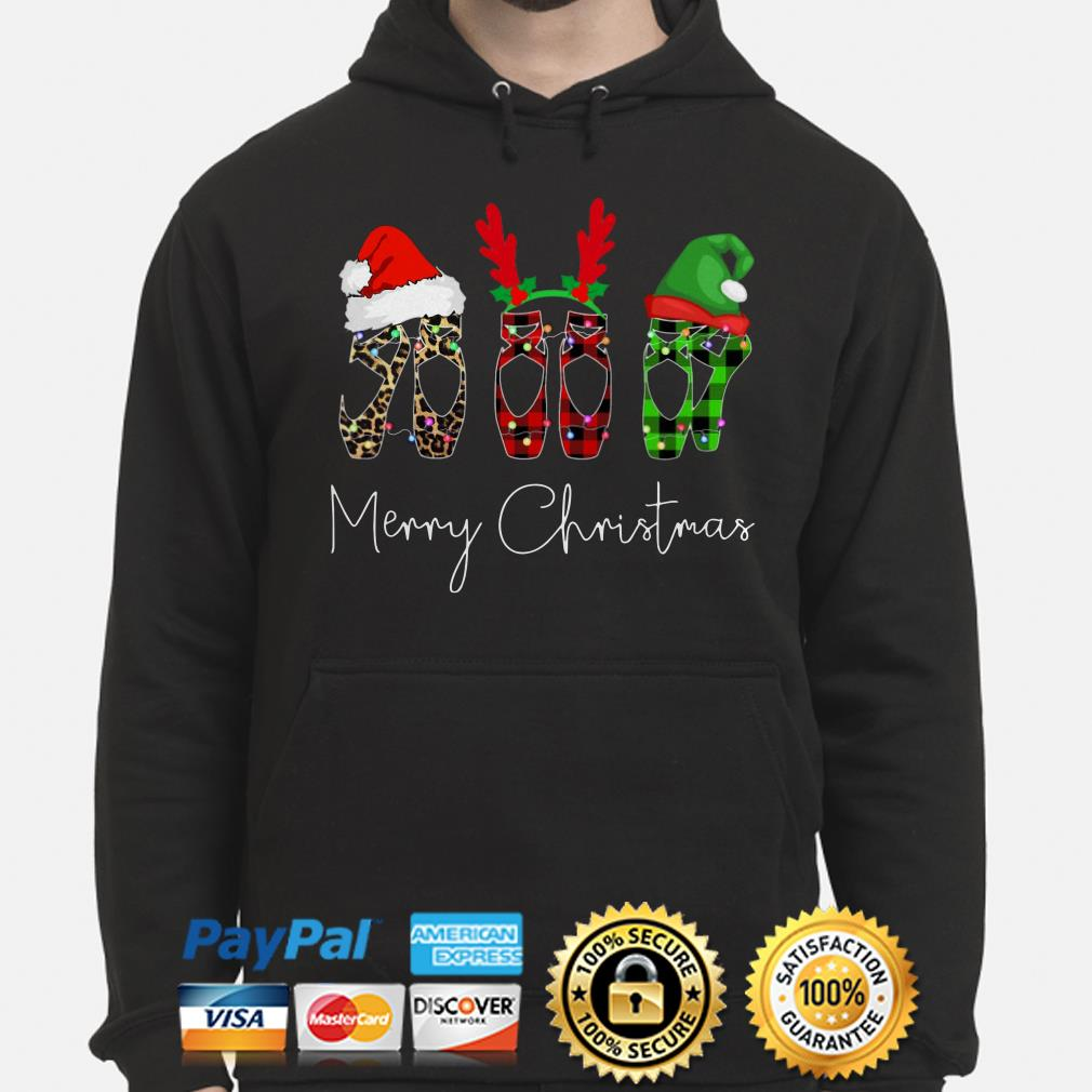 Ballet shoes Merry Christmas hoodie